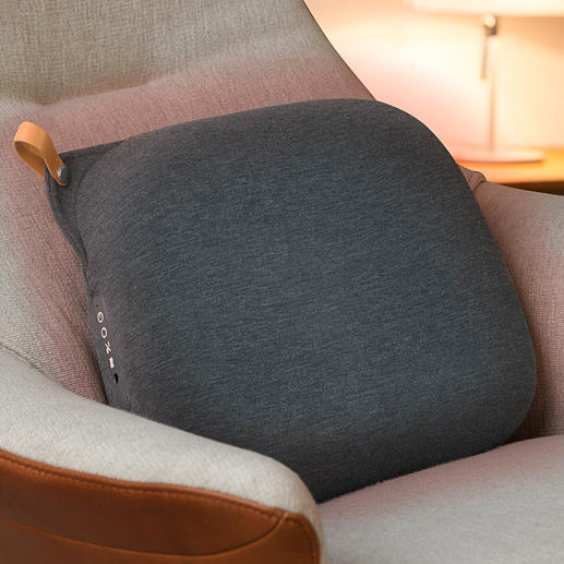 Relax Back design-massagekussen Hightech-massagekussen in Scandinavisch design.