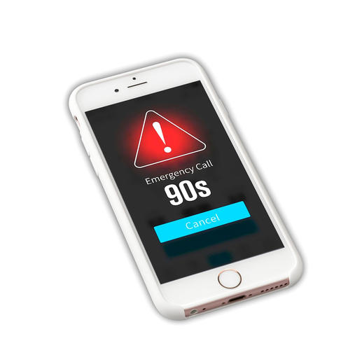 Bij een noodgeval wordt na 90 seconden een SOS-bericht met gps-tracking verstuurd.