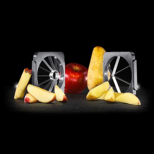 Apart te bestellen: messenset voor het maken van appel- en aardappelpartjes.