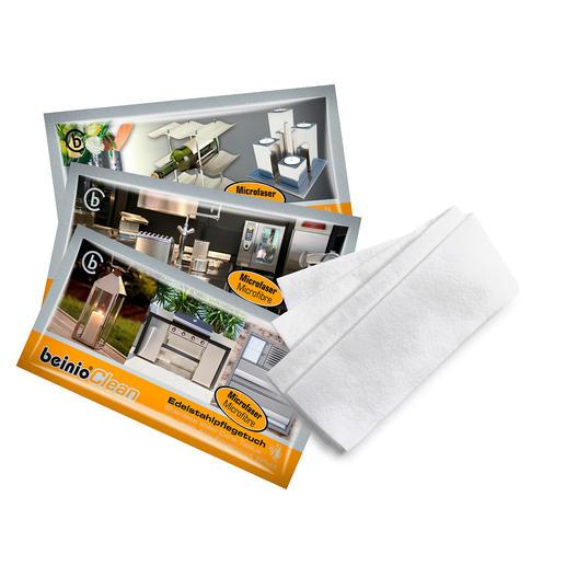 Reinigingsdoekjes voor rvs, 25 stuks Hygiënisch schoon + streepvrij glanzend + lange bescherming tegen vingerafdrukken.