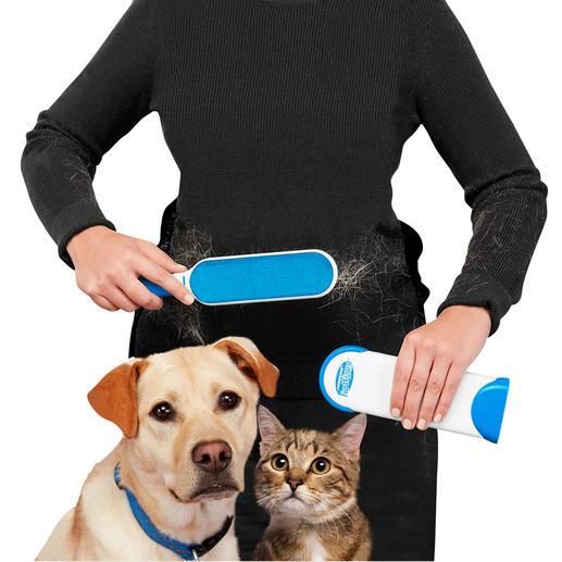 Hurricane® borstelset voor dierenharen en pluisjes Direct klaar voor gebruik en steeds opnieuw te gebruiken.