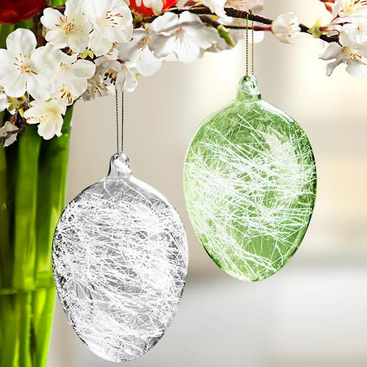Glasdraad- paaseieren, set van 8 Door het fascinerende lichtspel een schitterende vorm van paasdecoratie.