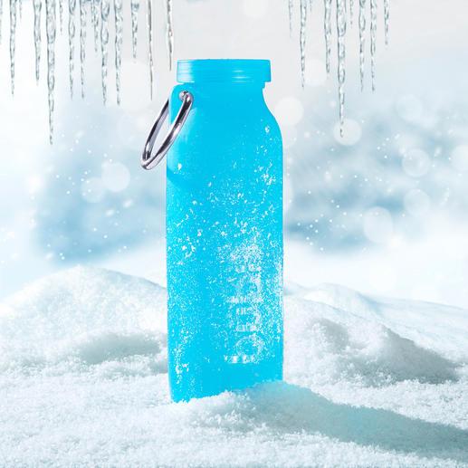De bübi® bottle is prima bestand tegen extreme kou (tot -73°C).