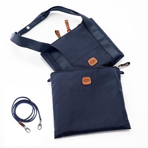 In elkaar gevouwen kunt u de Multi Bag compact in het 29 x 24 cm grote tasje opbergen.