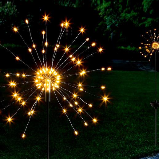 Solarlamp in de vorm van een sterretje Fascinerend spel van piepkleine lichtjes – mooi als spetterend vuurwerk.