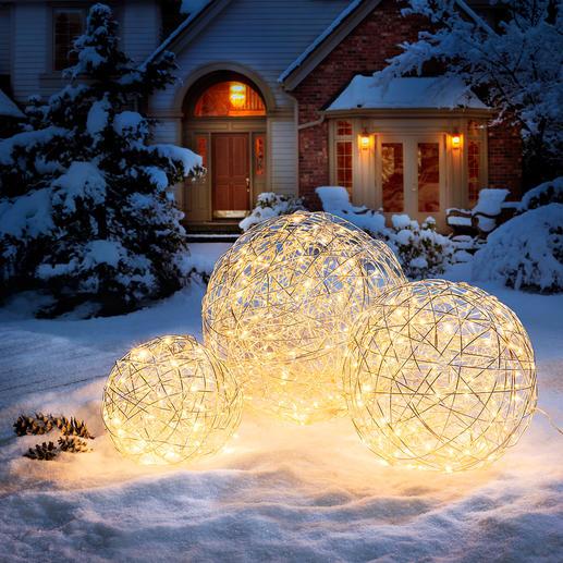 Aluminium-lichtbol - Mysterieuze sferische verlichting. Voor binnen en buiten.