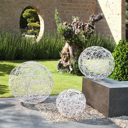 Aluminium-lichtbol Mysterieuze sferische verlichting. Voor binnen en buiten.