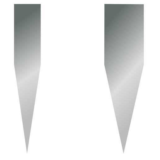 Zeer scherpe slijphoek van 16° (in plaats de gangbare 22- 25°) voor een verminderde snijweerstand.