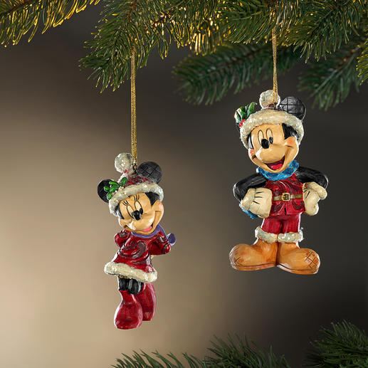 Disney Traditional kerstfiguren Kerst met Mickey, Minnie en Pluto.