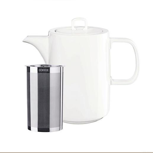 Het dubbele microfilter van edelstaal is zelfs fijn genoeg voor losse theeblaadjes.