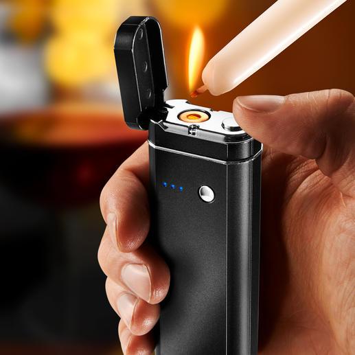 5-in-1 multi-tool - Powerbank, zaklamp, SOS-knipperlicht, hygiënechecker, valsgelddetector en vlamloze elektrische aansteker ineen.