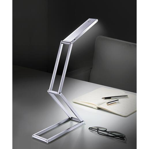 Inklapbare ledlamp met accu Compact en snoerloos. Handig om mee te nemen op reis, voor op de camping, in de tuin, …