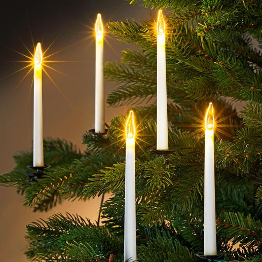 Led-staafkaarsensnoer Moderne uitvoering om uw kerstboom stijlvol mee te versieren.