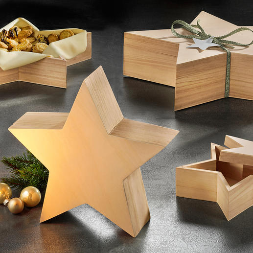 Sterrenbakje, 4-delige set - Prachtig als cadeauverpakking of decoratie.