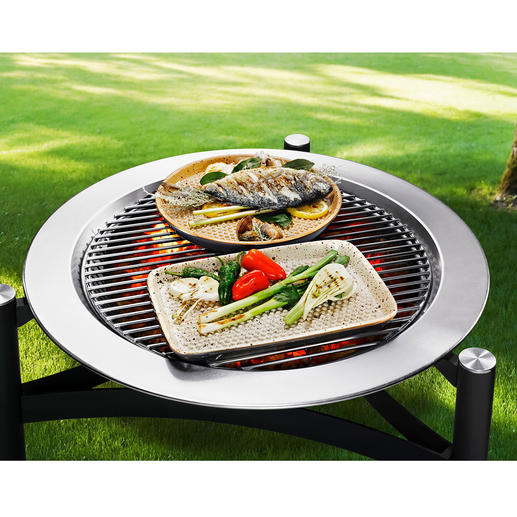 RÖMERTOPF® Lafer BBQ-grillschaal - Wereldprimeur: grillen met RÖMERTOPF®-keramiek.