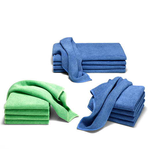 Ultrafijne microvezeldoekjes, set van 5 - Perfecte reinigings-, keuken- en baddoekjes.