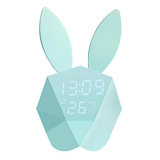 Cutty clock Huppelend haasje: wekker, thermometer en nachtlampje in één.