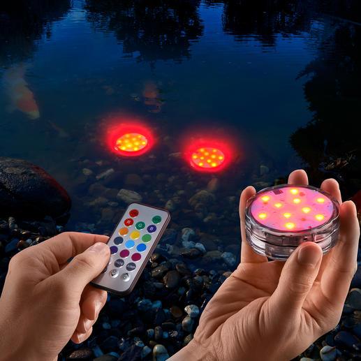 Waterbestendige gekleurde ledlampjes, set van 3 - Draadloze lichtaccenten voor binnen en buiten. Water- en stofdicht.