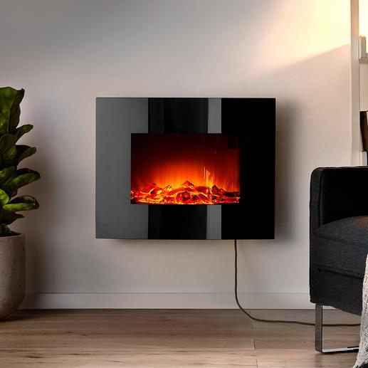 Elektrische wandhaard Even behaaglijk warm en aantrekkelijk als een krachtig haardvuur, maar dan zonder open vuur.
