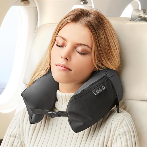 3-in-1 Travel Pillow - Geniaal veelzijdig. Nekkussen, comfort-hoofdkussen en extra kussenlaag ineen.
