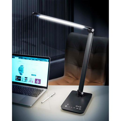 Dynamische ledlamp Keuze uit 5 lichtmodi voor werk, lezen en relaxen. Ook te gebruiken zonder kabel.