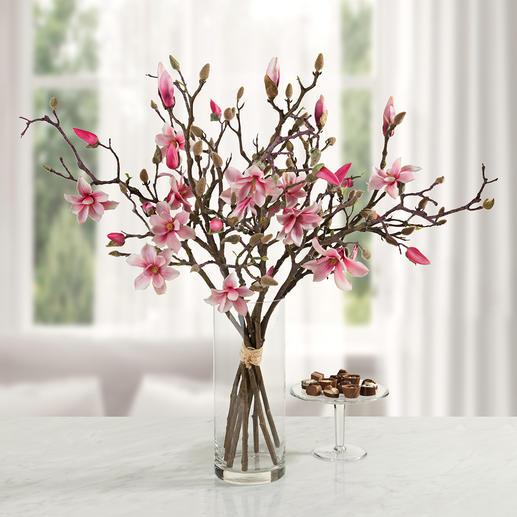 Magnoliaboeket - Onvergankelijke schoonheid: Zeven takken in de vorm van een stijlvol boeket.