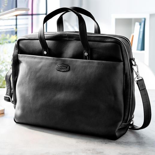 Oconi multiway-businesstas Een zeer veelzijdige tas voor kantoor. Van chic rundleer. Van Oconi.