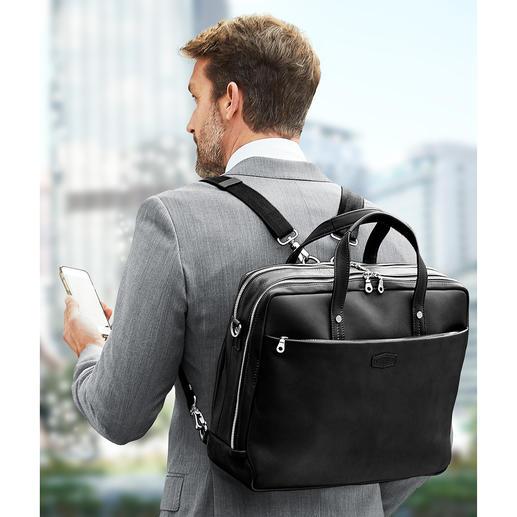 Met de in lengte verstelbare rugzakriempjes kunt u uw laptoptas gemakkelijk op uw rug dragen.