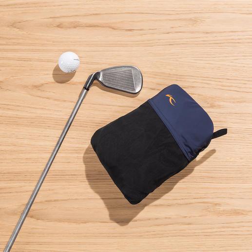 De broek is handig klein op te bergen in het geïntegreerde zakje (20x 13x 6cm).