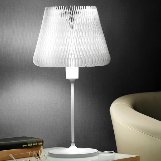 Tafellamp met variabele lampenkap 1 tafellamp – 12 verschillende looks. In een uitstekend design.