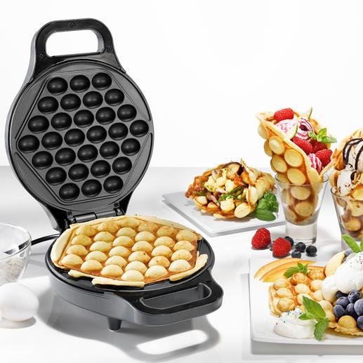 Bubble wafelijzer Bubble waffles – de onweerstaanbare foodtrend uit China. U maakt ze nu heel eenvoudig thuis.