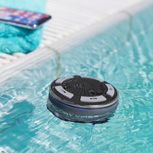 Waterdichte bluetooth-luidspreker DryVibes - Waterdicht. Krachtig. Snoerloos. De bluetooth-luidspreker die ook buiten is te gebruiken.