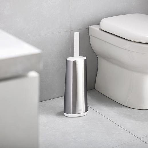 Flexibele silicone-wc-borstel Silicone-wc-borstel van de Britse designer Joseph Joseph.