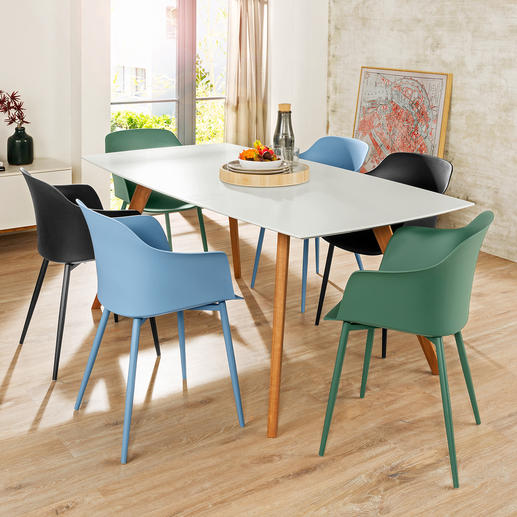 Kuipstoel 'Mila' voor binnen en buiten, set van 2 - Herontdekking van een klassieker: een mooie en comfortabele aanwinst voor uw zit- en eethoek.