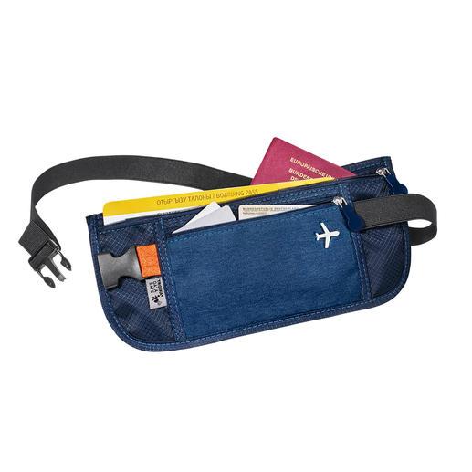 RFID-travel-organizer of -riemtasje Relaxt op reis: alle tickets, kaarten, papieren en geld veilig en geordend opgeborgen en altijd bij de hand.