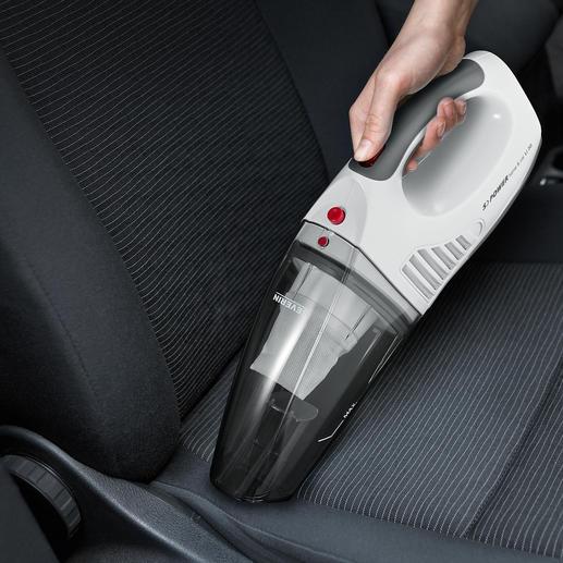 S'Power® accuhandstofzuiger Voor opzuigen van nat en droog vuil. Werkt op accu en 12V-aansluiting.