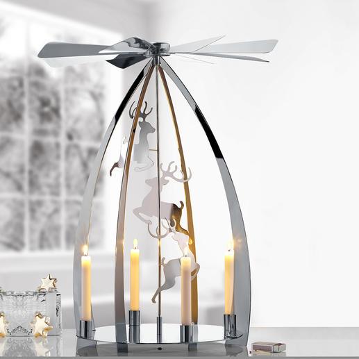 Moderne kerstpiramide Een van de mooiste kerstklassiekers – nu in modern, hoogglanzend design.