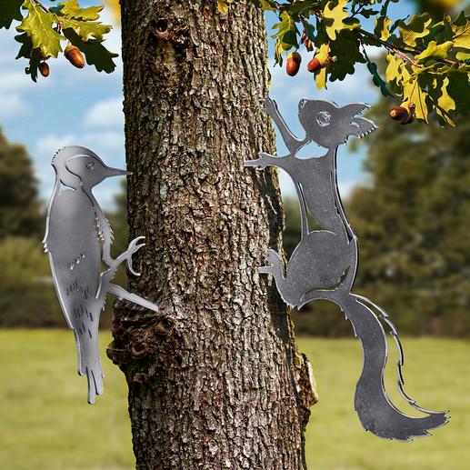 Contourdieren Natuurgetrouwe diermotieven van fijn gelaserd staal. Nu een eyecatcher in uw tuin.
