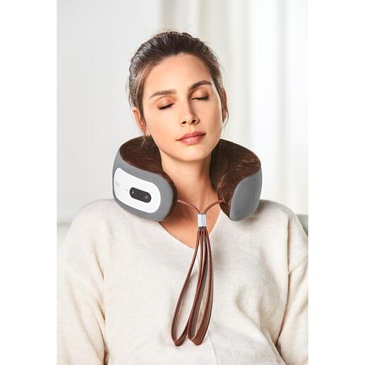 iNeck3 nekmassagekussen De perfecte nekmassage. Werkt zonder snoer en stopcontact, dus overal te gebruiken. 3 massagemodi.