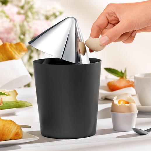 Tafelafvalbakje Oskar Innovatief edelstaal-design voor een stijlvol opgeruimde tafel.