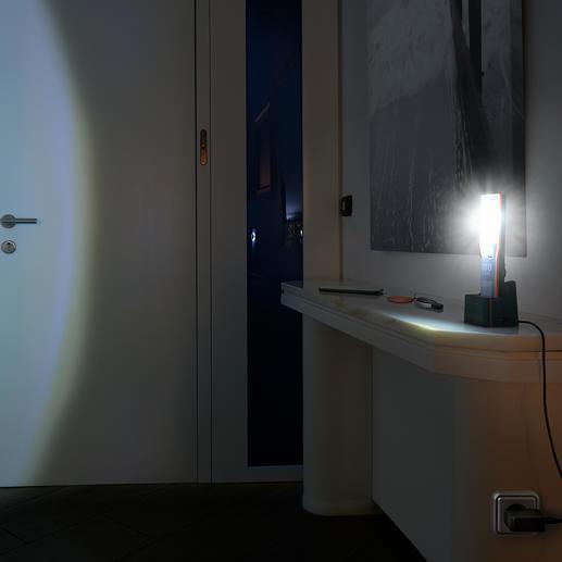 Wanneer de lamp bij een stroomstoring in het laadstation staat, dan gaat de led automatisch aan.