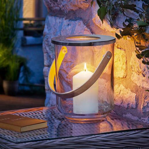 3-in-1 windlicht - Stijlvol glasdesign. Tijdloos elegant. Passend bij elke sfeer. Aan het jaargetijde aangepast te decoreren.