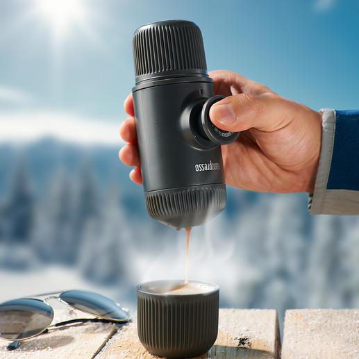 Nanopresso Uw espressomachine is klaar voor gebruik, zonder stroomaansluiting en snoeren.