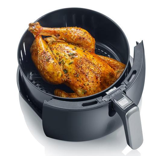 Er is zelfs genoeg plek om een hele kip te grillen.