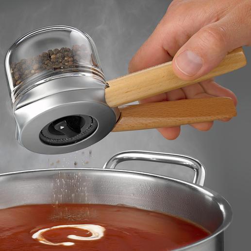 Dreamfarm design-specerijenmolen Bekroonde design-pepermolen die met een of twee handen te gebruiken is.