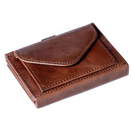 Multi Wallet met muntvak, bruin