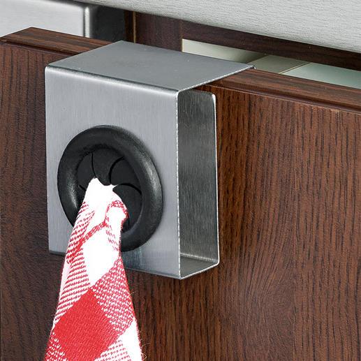 Handdoekhouder Push en Pull, set van 4 Elegant, stabiel en mobiel. Ideaal voor in de keuken, badkamer of het gastentoilet.