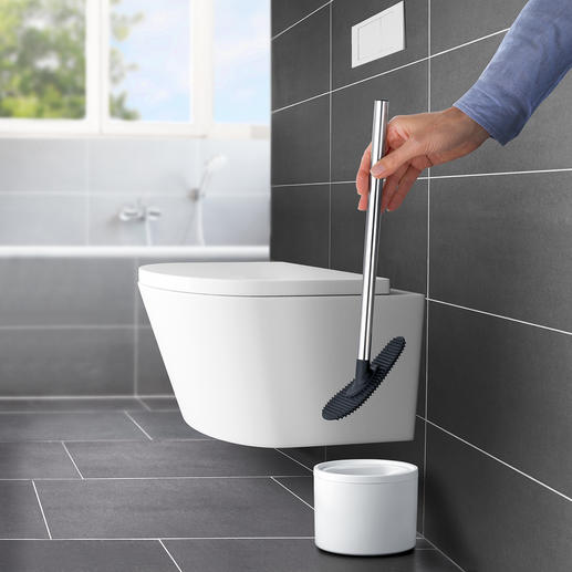 Siliconen toiletreiniger Veel flexibeler en hygiënischer dan normale toiletborstels.