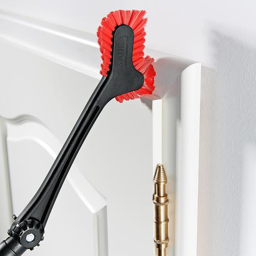 Moeiteloos elk soort kozijn of rand afstoffen. Ideaal voor bijv. plinten, deurposten en raamkozijnen.