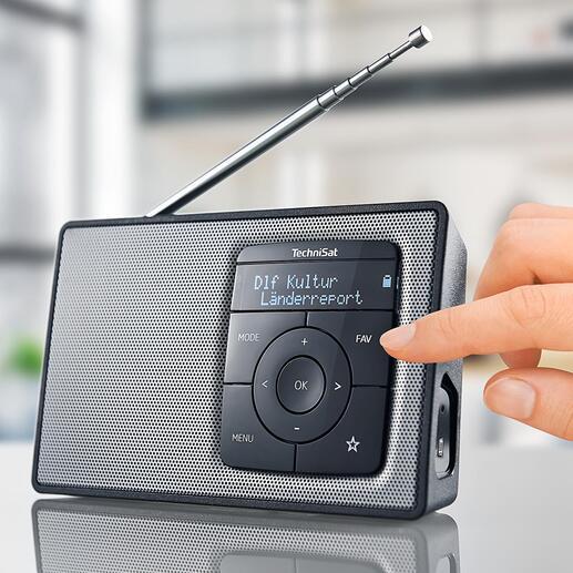 TechniSat DIGITRADIO 2 Draagbare digitale radio van TechniSat. Met accu  en bluetooth-streaming. Kwaliteit made in Germany.